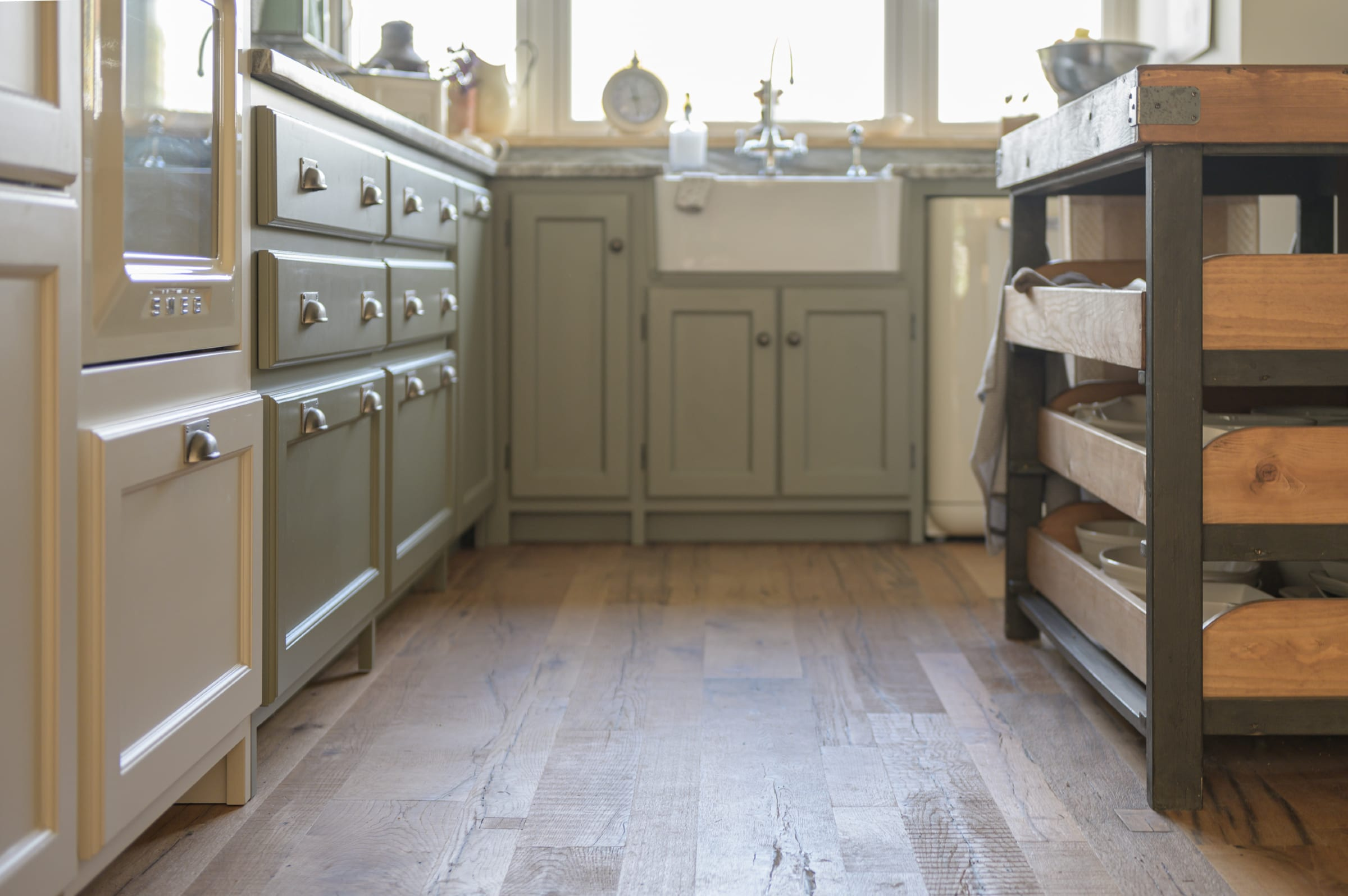 rustic kitchen with gable grange reclaimed wood floors