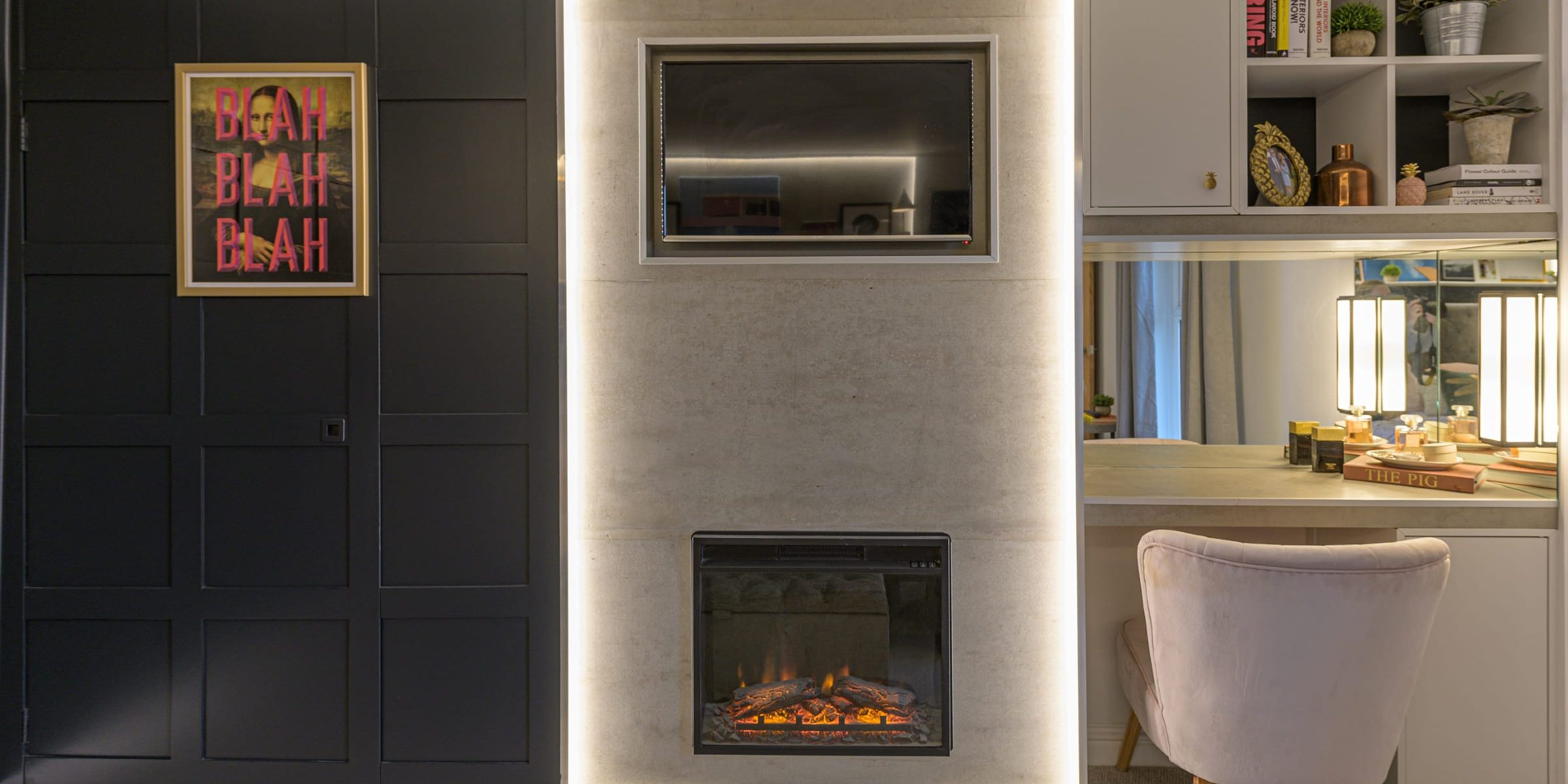 concreate wall panels in natural grey