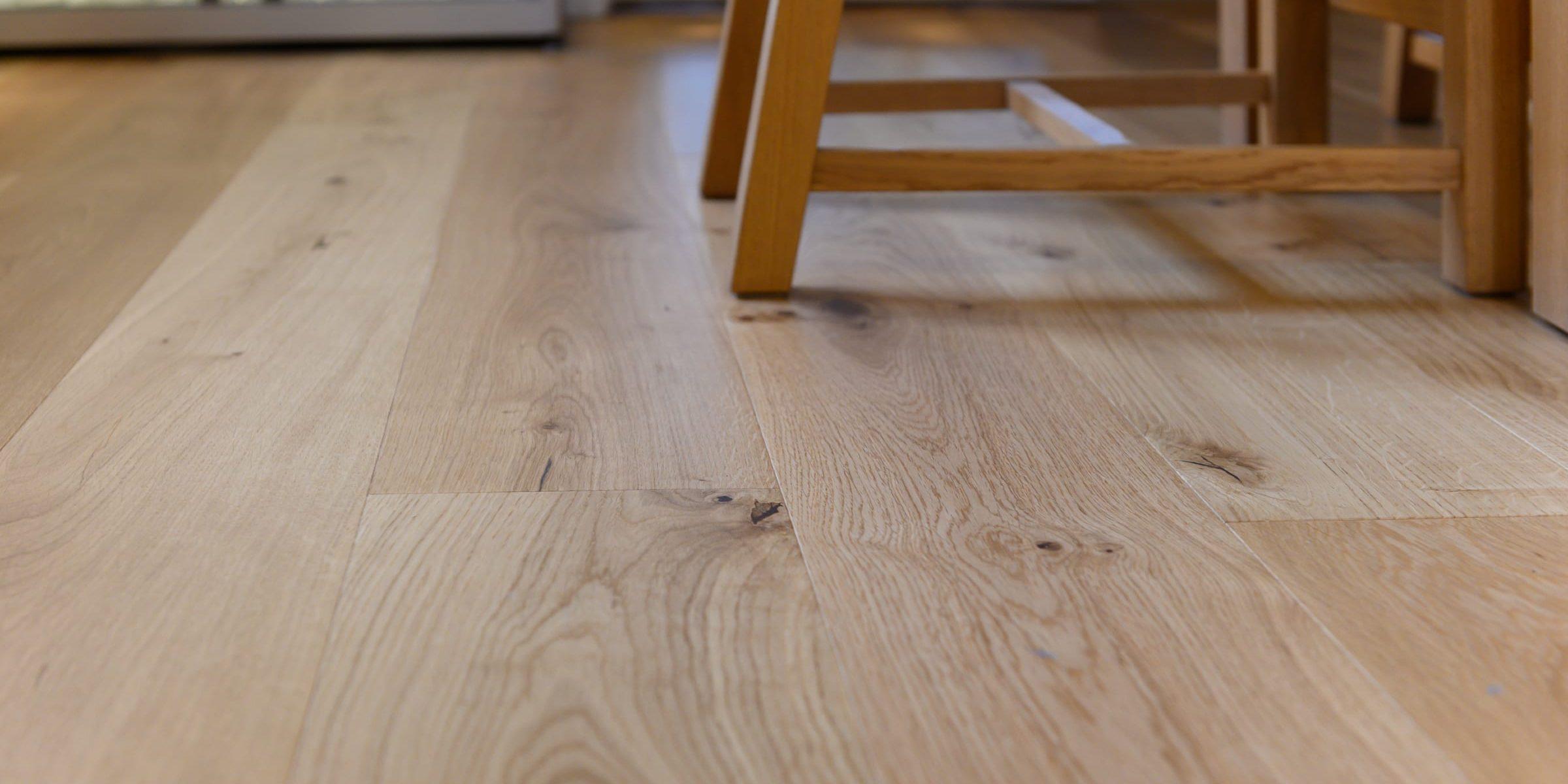 close up of Eiger Matt Lacquered wood floors
