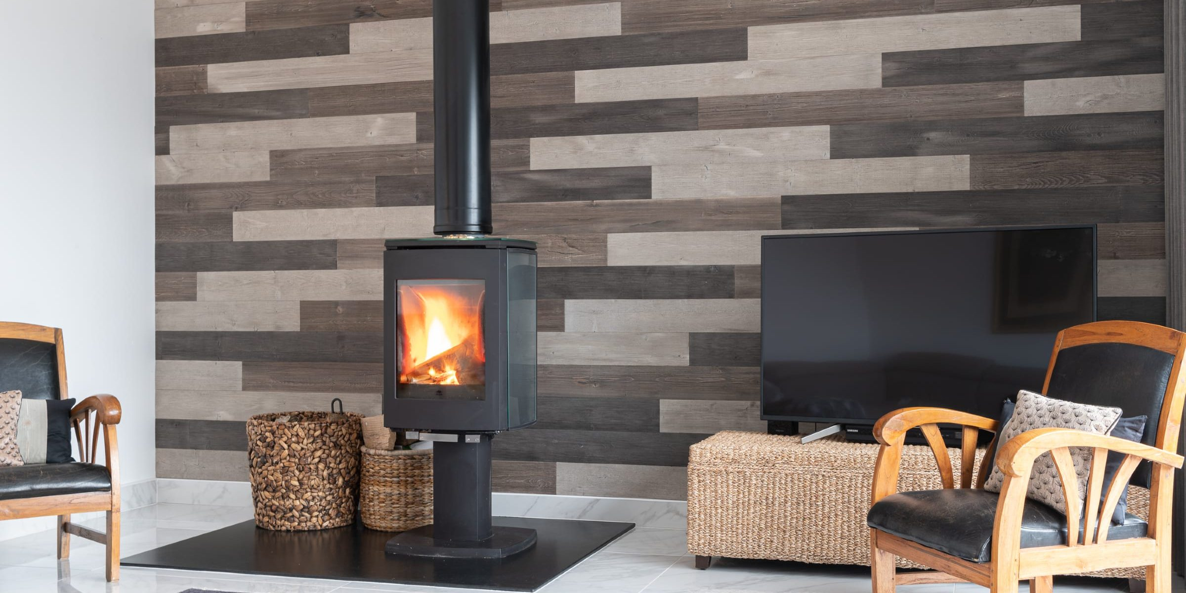 Wood Feature Wall Design With Panneau Wooden Wall Panels In Surrey