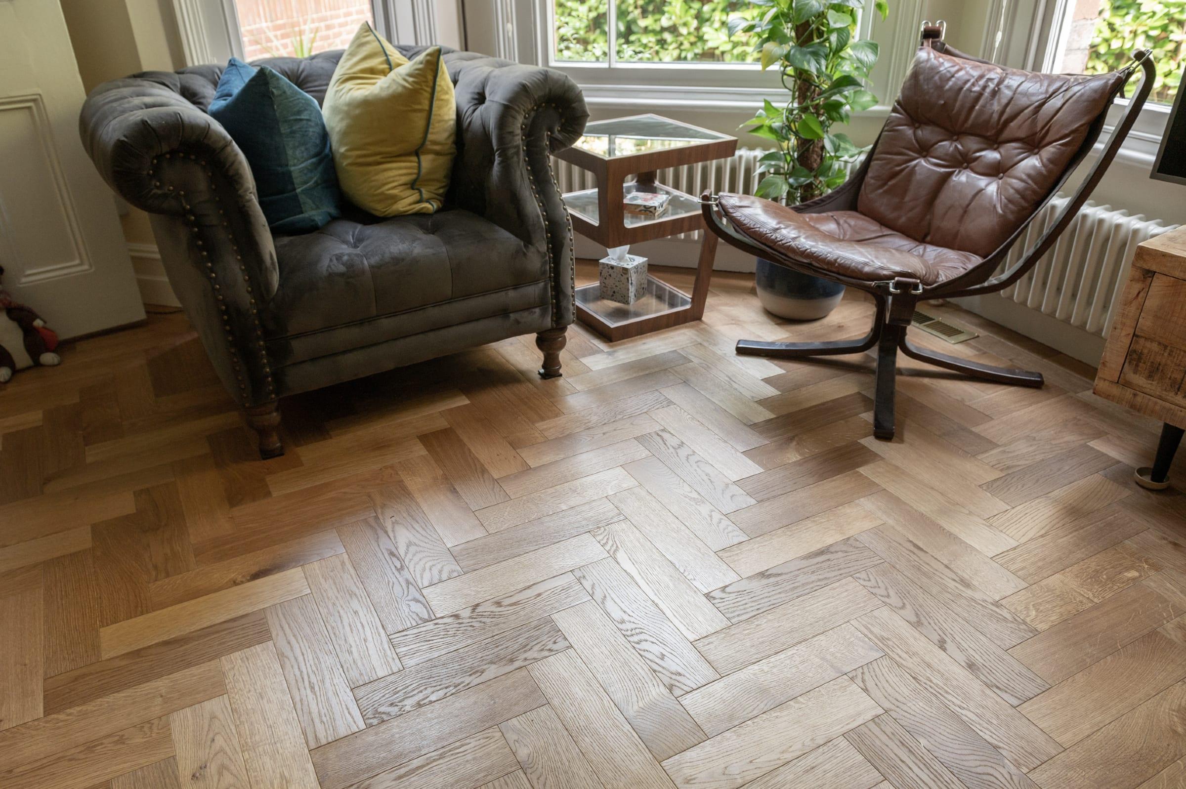 Cosy corner with ZB201 herringbone wood floors