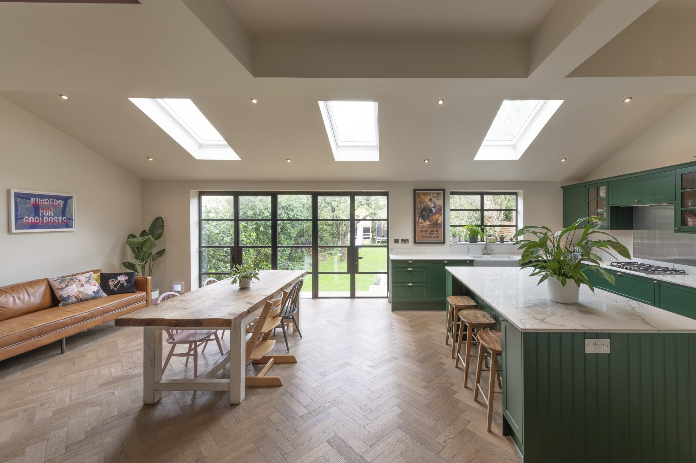 zigzag frozen umber in kingston kitchen