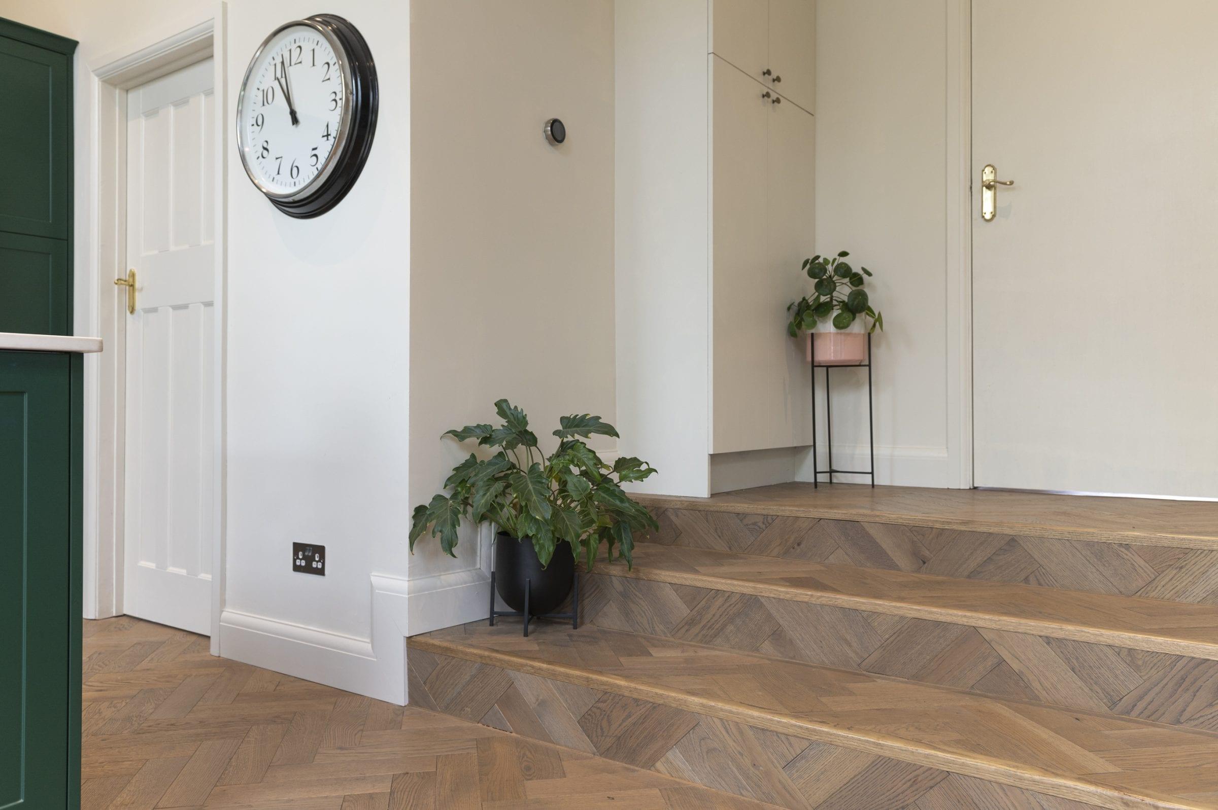 herringbone floors on internal steps