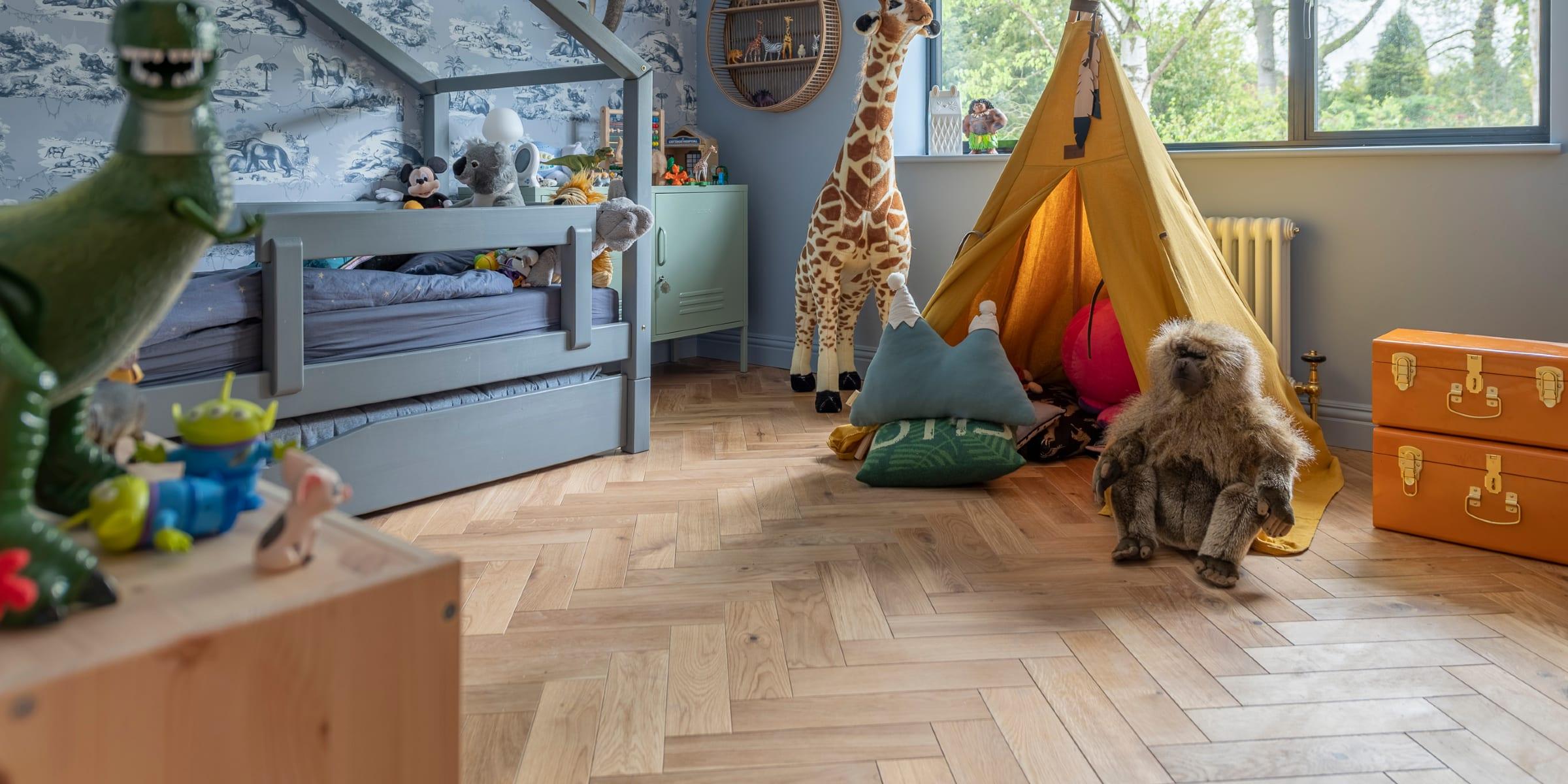 jungle themed boys bedroom